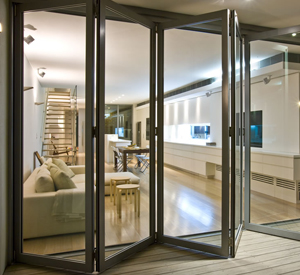 Sliding Folder Doors, Aluk Aluminium Fabricators, Sri Lanka